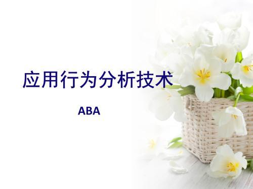 为什么说ABA是治疗自闭症的最佳选择